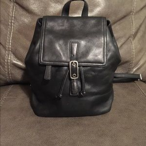 COACH Black Leather Legacy West Backpack